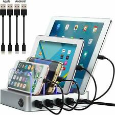 Simicore Smart Charging Station Dock Organizer for Smartphones Tablets 4 Port