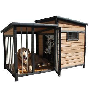 PetJoint Large Wooden Pet Dog Kennel House Puppy Home Indoor Outdoor with Door