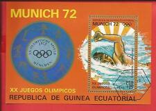 Olympia Schwimmen in München1972 Block 17 Äquatorialguinea