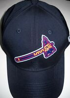 ATLANTA BRAVES STRETCH 1-FIT FLEX CAP HAT W/ TOMAHAWK LOGO (ADULT MEDIUM-LARGE)