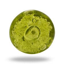 Glass Jones Bead  Olive Green Cupboard Cabinet Door Knob Drawer Pull
