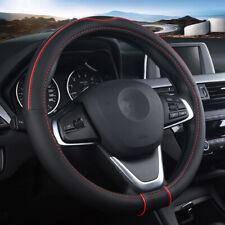"""Car Steering Wheel Cover Carbon Fiber Leather Auto Non-slip Accessories 15""""/38cm"""