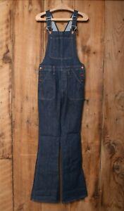 MADEWELL 'Flea Market' Blue Stretch Denim Flare Overalls Sz. M
