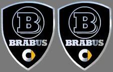 2 adhésifs sticker noir chrome SMART BRABUS (idéal ailes avant)