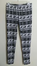 Ryu Womens Gray Reindeer Pattern Casual Pants!! Size Small!!