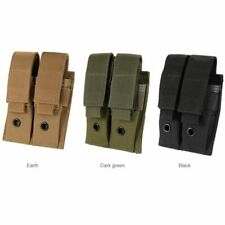 9MM Nylon 600D Tactical Molle Dual Double Pistol Magazine Pouch Close Holster