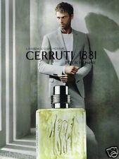 Publicité advertising 2007 Parfum Cerruti 1881 pour Homme