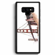 Samsung Galaxy Note 9 Silikon Hülle Cover Golden Gate Bridge San Francisco USA