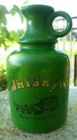 Green Whisky Jug Music Box Dover Liverpool Made Japan Roll Out Barrel Vintage
