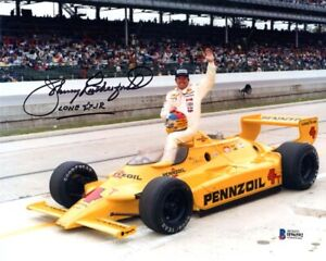 JOHNNY RUTHERFORD SIGNED AUTOGRAPHED 8x10 PHOTO + LONE STAR JR. RARE BECKETT BAS