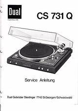 Service Manual-Anleitung für Dual CS 731 Q