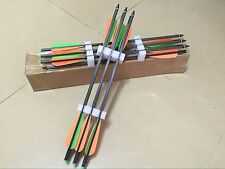 """50PK 18"""" mixed carbon fiber crossbow arrow 18 inch crossbow bolts for hunting"""