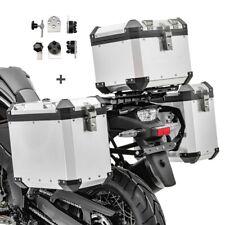 Alu Koffer Set + Topcase für Honda NC 700 X / 750 X GX38 silber