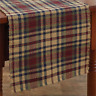 """Prim Mustard, Navy, Country Red, Green Plaid South River 13""""x36"""" Table Runner"""