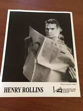 henry rollins limited edition 8 x 10 press photo