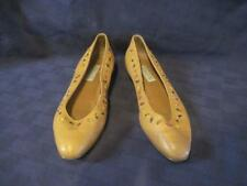 UNISA Shoes Soft Leather Slip On Ballet Flats Tan With Beads Size 9AA MI Brazil