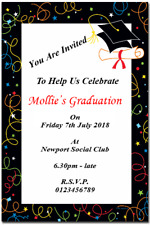 10 Personalised  Graduation Party Invitations