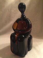 MAGNIFICENT VINTAGE SIGNED  RENATO ANATRA ART GLASS SCULPTURE - 9.8 Lbs.