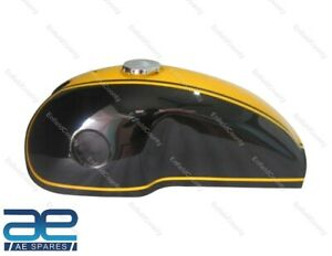 For Benelli Mojave Bike Black and Yellow Painted Gas Fuel Petrol Tank + Cap ECs