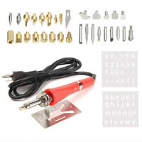 Sale~37 IN1 30W WOOD BURNING PEN SOLDERING SET PYROGRAPHY TOOL WITH TIPS *USEFUL