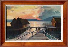 Sonnenuntergang am Bodensee-Jürgen Parusel *1940-international verzeichnet-xxx