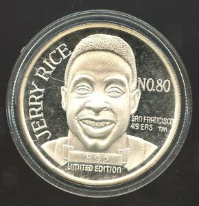 Jerry Rice 1 Ounce Silver Coin 1994 Lim  # 892/900