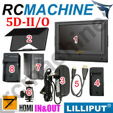 "Lilliput 7"" 5D-II/O HDMI In & Out Monitor+F970 6600mAh Batt Canon 5D Mark II 5d2"