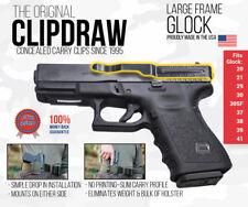 Clipdraw Belt Clip Glock Large Frame IWB Black Ambidextrous Clip Holster