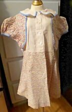SWEET! Antique TAILORED BABY FLORAL DRESS  Or Antique Compo BISQUE BABY DOLL