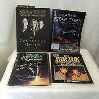 Star Trek reference 4 book lot, 1979-1997, TOS & TNG