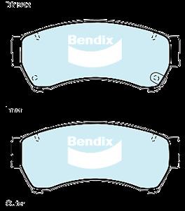 Brake Disc Pad Set Front Bendix DB1942 GCT For MAZDA 6 GG GH 2.3 2.2 2.5 MZR