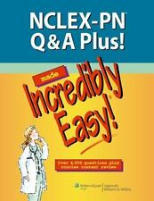 NCLEX-PN Q&A PLUS! MADE INCREDIBLY EASY! (Over 4000 Q's!) By Lippincott **NEW**