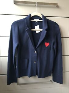 J Crew Cuts Girls Blue Navy Knit Blazer Bnwts