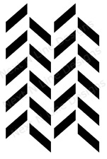 Trapezoid Pattern Stencil, Trapezoid, Wall Stencil ,Mylar Stencil, Reusable