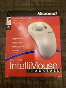 Microsoft IntelliMouse Trackball 2000 Serial Port PS/2 Version Open Box