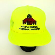 Vtg NOS NEW Nissin Cap Safety Green Hat Trucker Mesh Back Snapback Construction