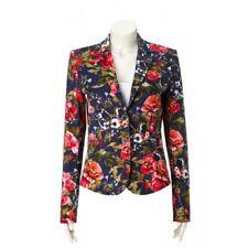 OUI Navy Flower Print Jacket/Blazer Size 10 £185