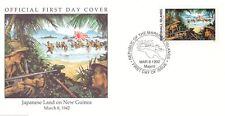 W36 1-1 Isole Marshall FDC 1992 copertura del terreno giapponese in Nuova Guinea 1942