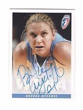 2007 Wnba Autographs #17 Brooke Wyckoff Chicago Sky Basketball