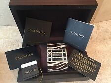 VALENTINO ZEBRA PRINT PONY HAIR & CRYSTAL WATCH W/ BOX & PAPERS- STUNNING!
