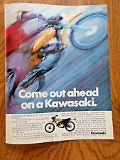 1972 Kawasaki Motorcycle Ad  100cc G5 Enduro