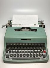 Olivetti Underwood Lettera 32 Portable Typewriter, Teal, Working, with case Blue