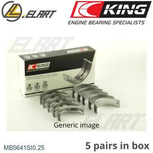 King Main Shell Bearings MB5641SI 0.25 Oversize For CHRYSLER-HYUNDAI 1.0-1.1 12V