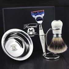 4 PC pronto all'uso Men's Set da barba con G. Fusion e Micro-punta pennello regalo Kit di lui