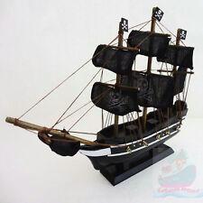 WOOD MODEL 29cm length PIRATE SHIP Sailing Boat Corsair Tall Ship Nautical decor