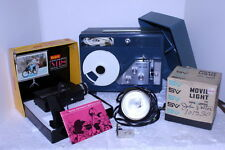 Keystone K520 Super 8mm Movie Projector + Kodak M18 + Smith Victor Q-1 Light