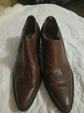Markon womens boots size 9, brown leather, western style, Originally $79