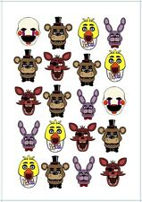 🕹 Five Nights At Freddys FNAF Temporary TATTOO Sheet. Lolly Bag Party Supplies