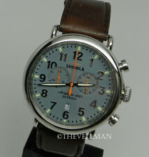 Mens American USA Made Detroit W/ Swiss Shinola Runwell 47mm Chronograph Watch