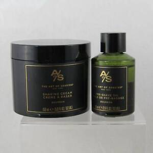 Bourbon Shaving Cream and Pre-Shave Bundle - by Art of Shaving (Pre-Owned)